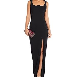 Adrianna Papell Scoop Neck Jersey Gown